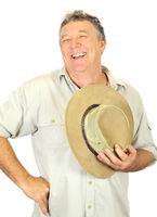 Laughing Man With Hat