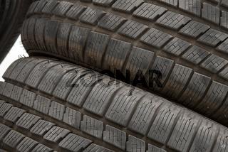 Tyres texture closeup
