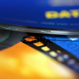 Filmstreifen auf einer DVD