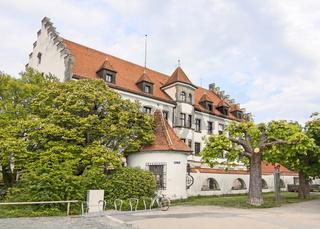 Gebäude am Lindauer Hafen, Bodensee