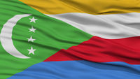 Closeup Comoros Flag
