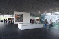 Neu gestalteter Innenbereich der Ausstellung