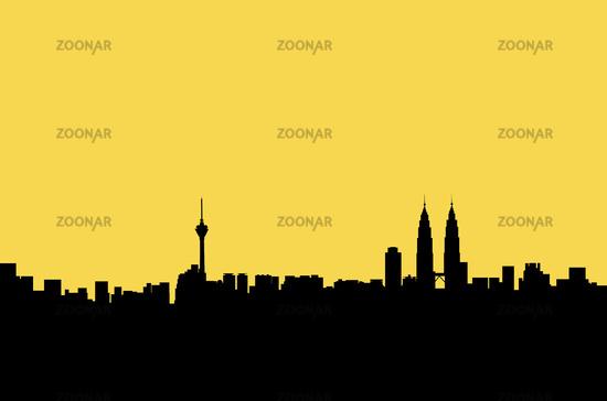 Kuala Lumpur panorama graphic
