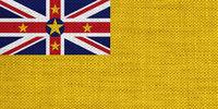 Fahne von Niue auf altem Leinen - Flag of Niue on old linen