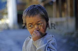 Junge im Annapurna Gebiet, Nepal