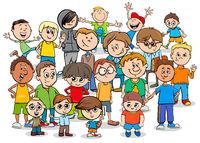kid or teen cartoon boys characters group