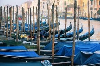 Venice and gondolas