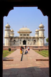Tomb of Itimad-ud-Daulah in Agra, Uttar Pradesh, India