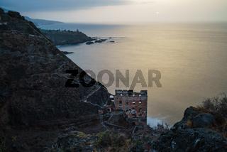The Galeria La Fajana on Tenerife island durin sunset