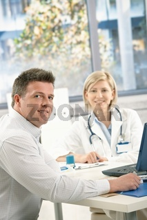 Doctor and patient in office