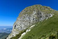 Gipfel Dent de Jaman Gipfel oberhalb von Montreux