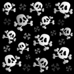 Pirate skulls and bones - thematic illustration.