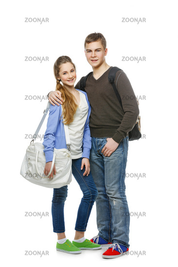 Happy Casual Teenager Portrait Stock Photos -