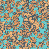 Hand Drawn Floral Vector Seamless Pattern