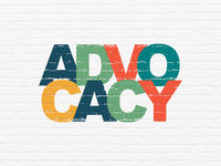Law concept: Advocacy on wall background