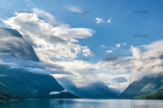 Beautiful landscape in Loen