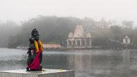 Hindu statue in Grand Basin Mauritius
