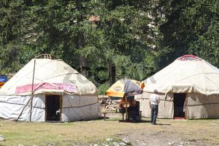 Jurtenlager, Grigorievka Schlucht, Kungei Alatoo Gebirge, Kirgistan