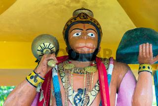 Statue of Hanuman the monkey god in Unawatuna