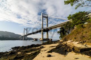 Puente de Rande cable stayed bridge in Vigo Pontevedra