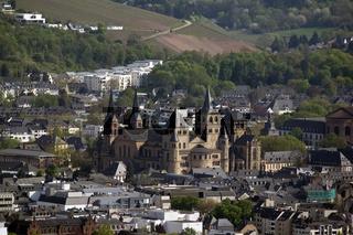 Blick auf Trier, Rheinland-Pfalz, Deutschland
