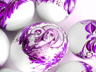 beautiful violet easter eggs