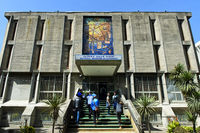 Entrance to the National Museum of Ethiopia, Addis Ababa, Ethiopia
