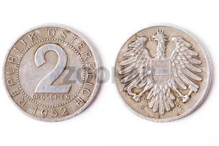 2 Groschen aus dem Jahre 1952 - 2 pennys from 1952 in Austria