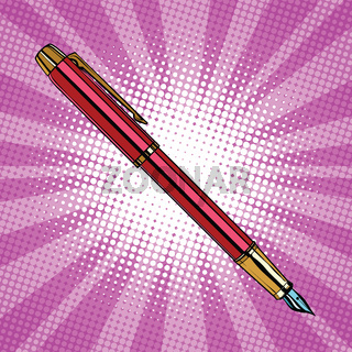 Expensive ink pen business accessory