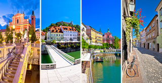 City of Ljubljana tourist postcard