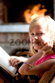 reading in garden