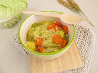 One pot soup with cone cabbage and millet