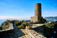Doria castle in Vernazza. Italy