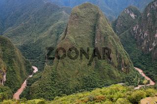 Urubamba River near Machu Picchu in Peru