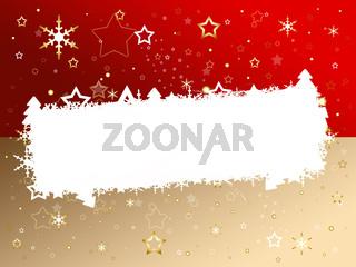 Weihnachtskarte rot/braun
