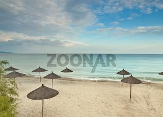 beach in peninsula Kassandra,Greece