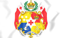 Tonga coat of arms. 3D Illustration.