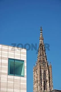 Sammlung Weishaupt und Ulmer Münster, Ulm, Baden-Württemberg, Deutschland, Europa
