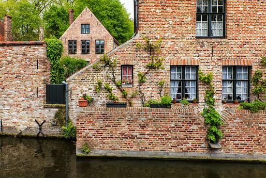 Medieval brick houses in Bruges Brugge