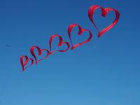 Flight kite in heart shape - kite festival
