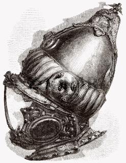 Turkish helmet from the Battle of Lepanto, 16th century