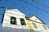 Historic town Paraty on the time of Carnival, Brazil