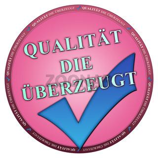 Button Qualität rosa