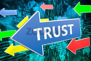 Trust text concept