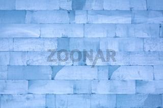 Wand aus Eisblöcken als Hintergrund