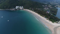 Aerial view of exotic beach in Phuket