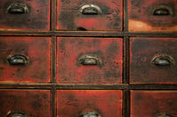old wooden drawer / cabinet -  vintage furniture