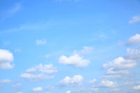 Summer sky with cumulus clouds