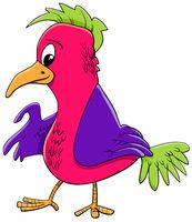 bird character cartoon illustration