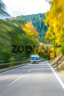 Geschwindigkeit im Herbst